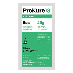 ProKure G -  Fast Release, 10 gram, Case of 12 Odor Control Pouch - EPA Registered 2250 cubic Feet